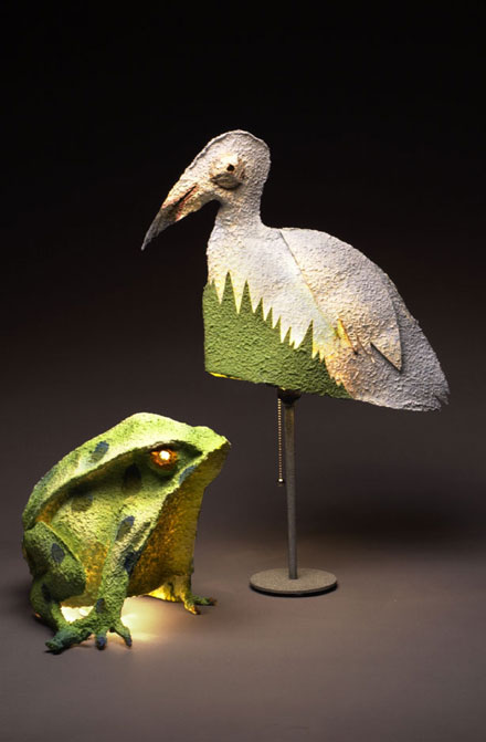 Frog and Bird Lamp
