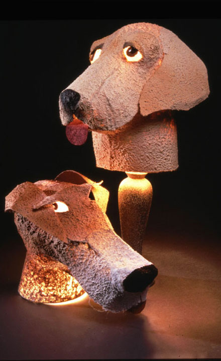 Lab-Terrier Lamps
